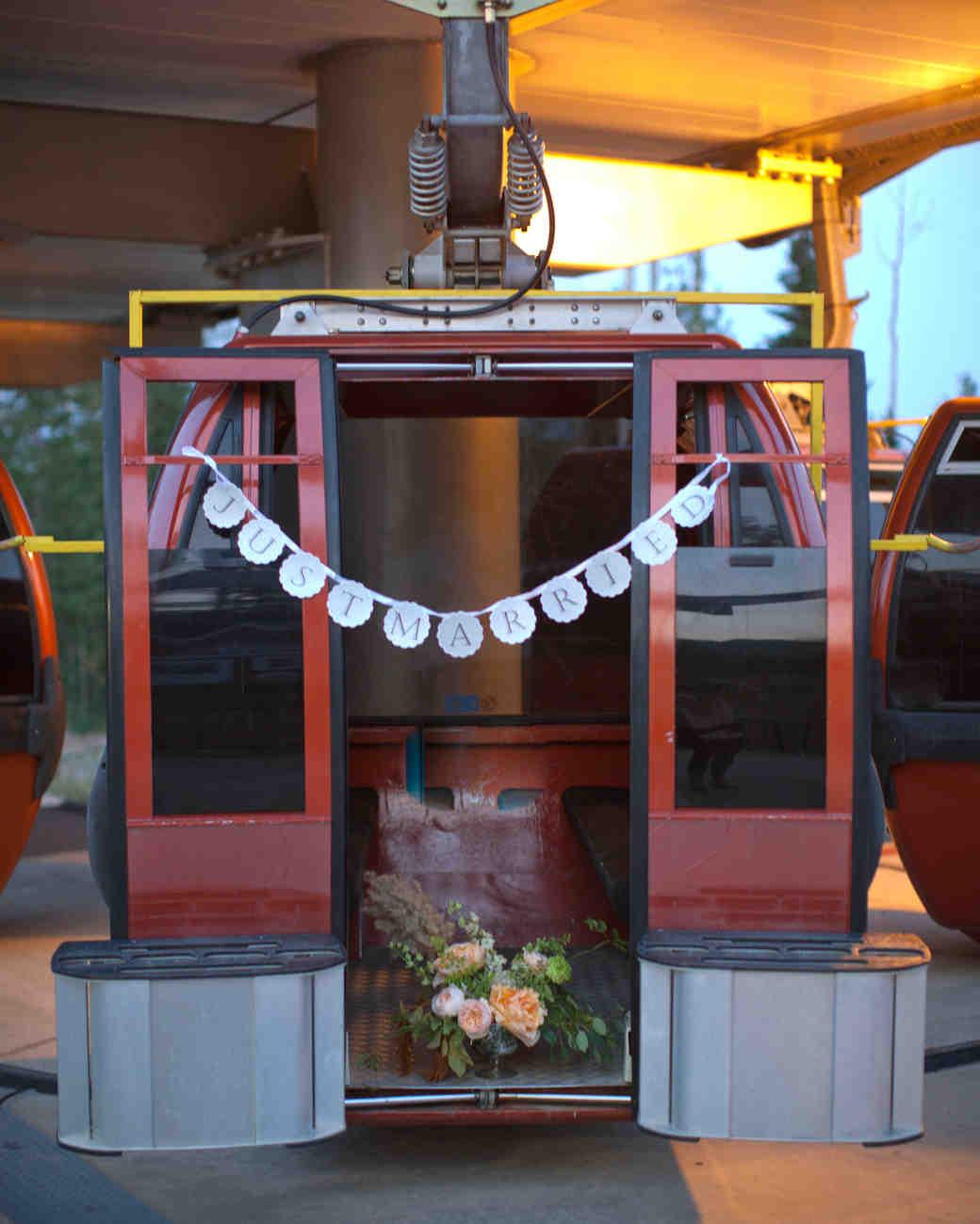 gondola wedding getaway