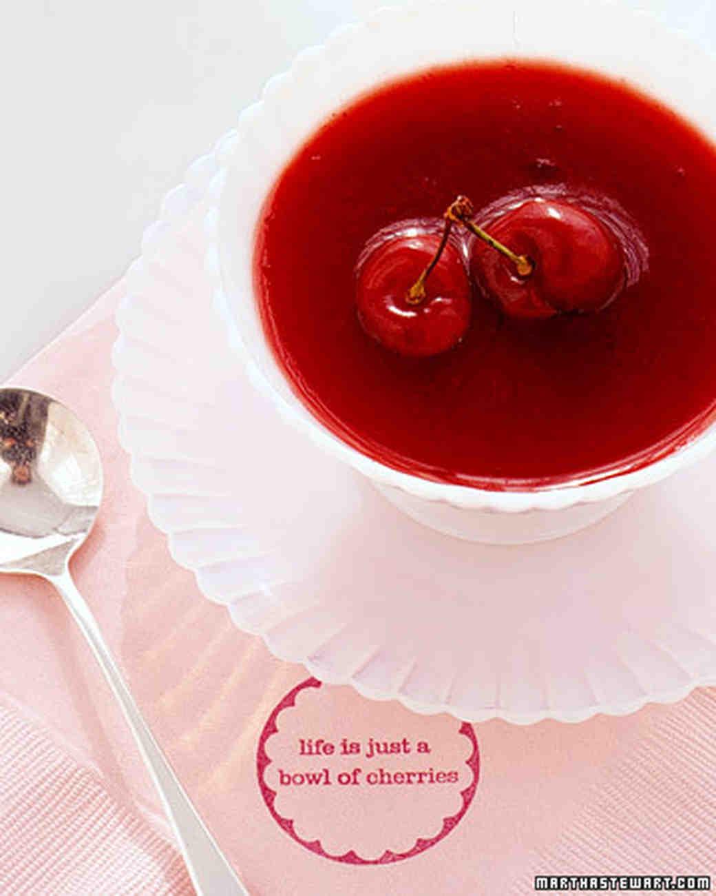 Cherry cold soup 74