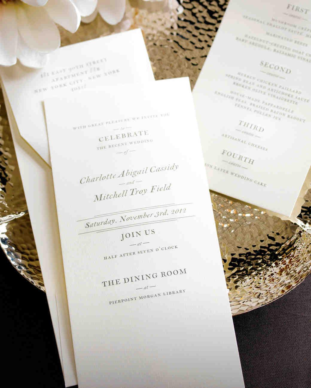 mixed font wedding invitation