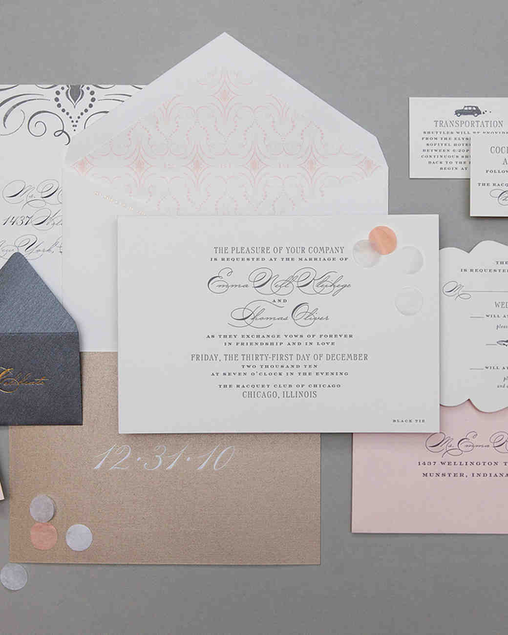 romantic wedding invitation
