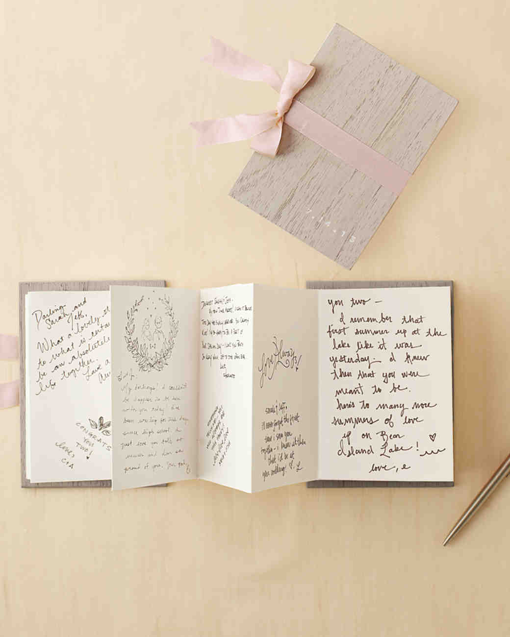 accordion wedding guest book