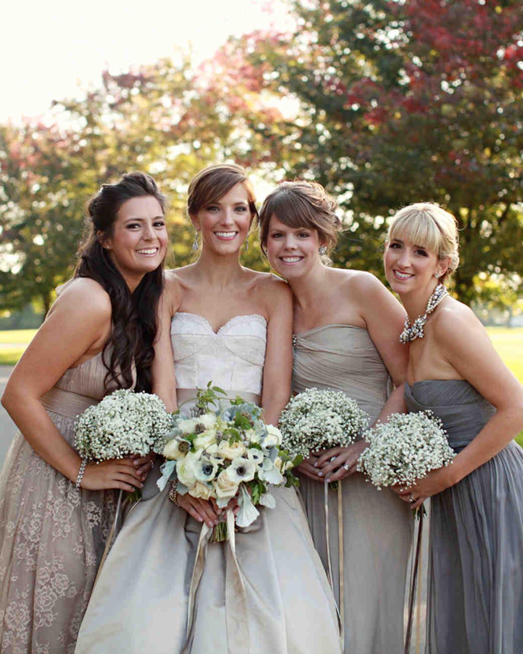 Bridesmaids from Real Weddings | Martha Stewart Weddings