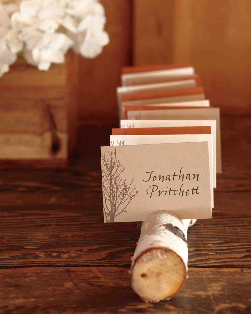 fall wedding place card holders. fall wedding place card holders y