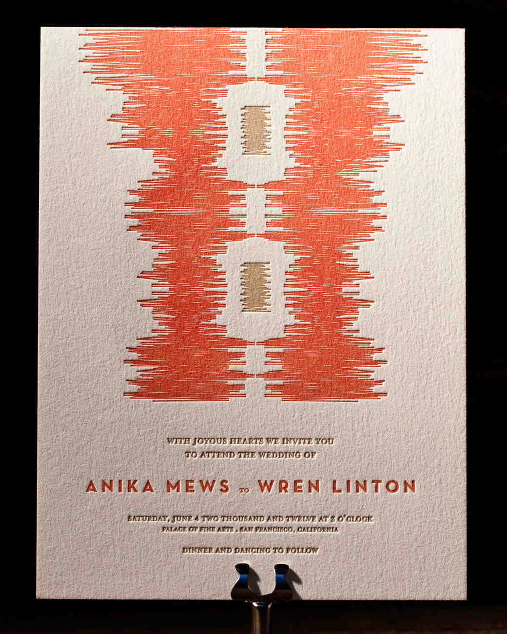 ikat wedding invitation