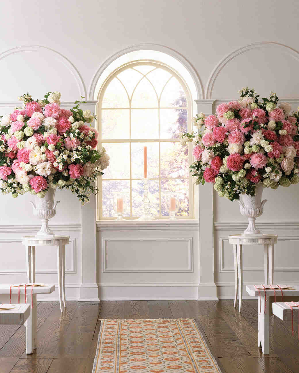 Large Wedding Altar Arrangements: Peony-Inspired Wedding Ideas