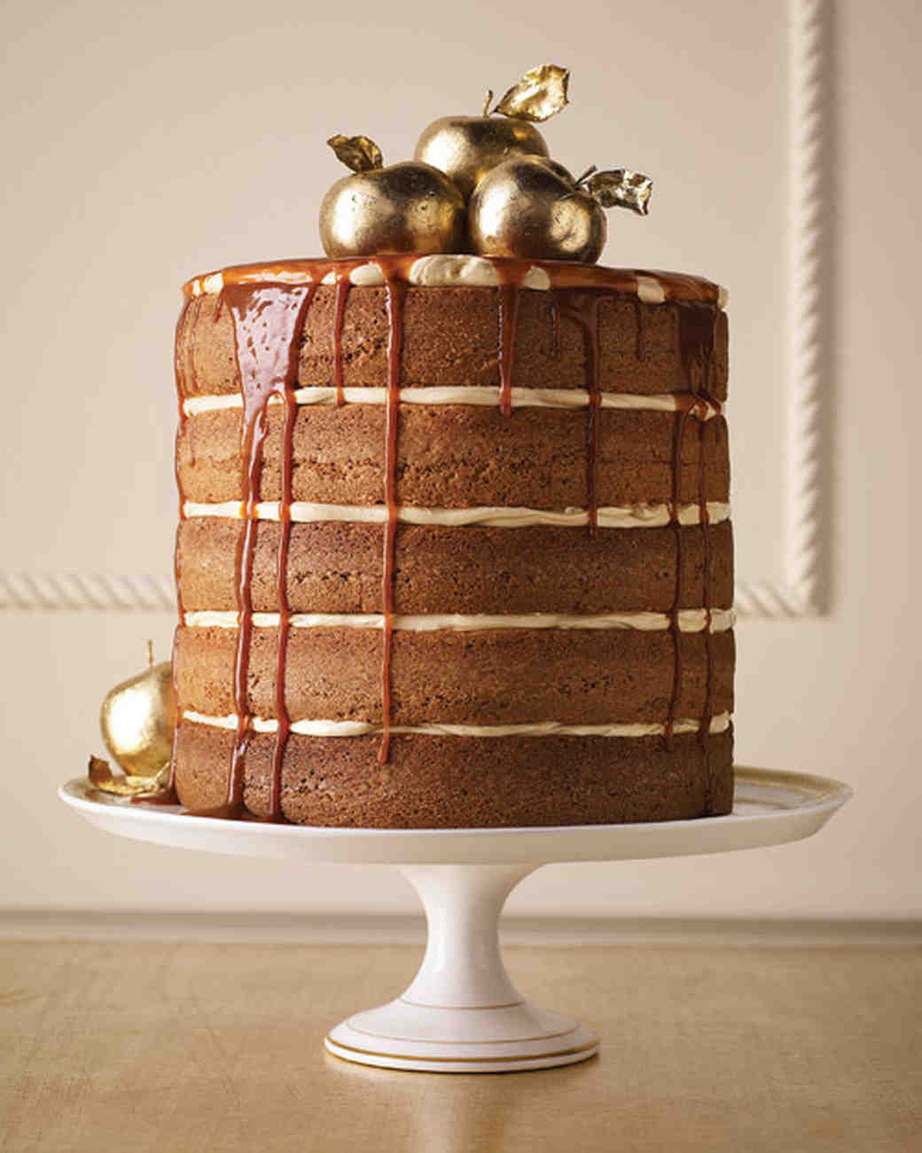 Spiced Apple and Caramel Naked Cake