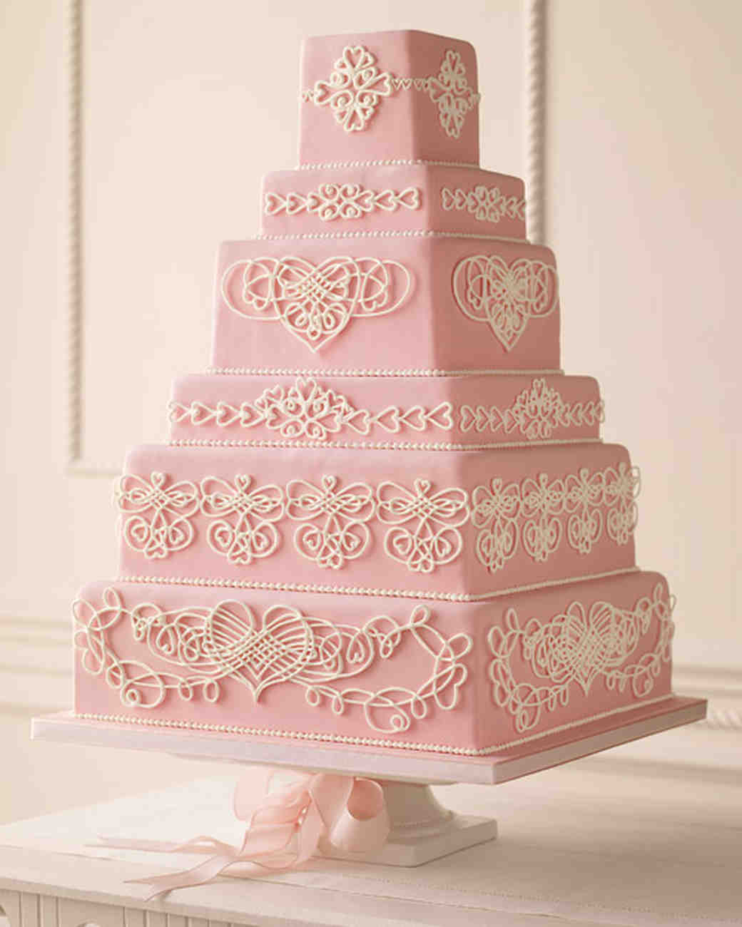 Pink And Red Wedding Cakes Martha Stewart Weddings