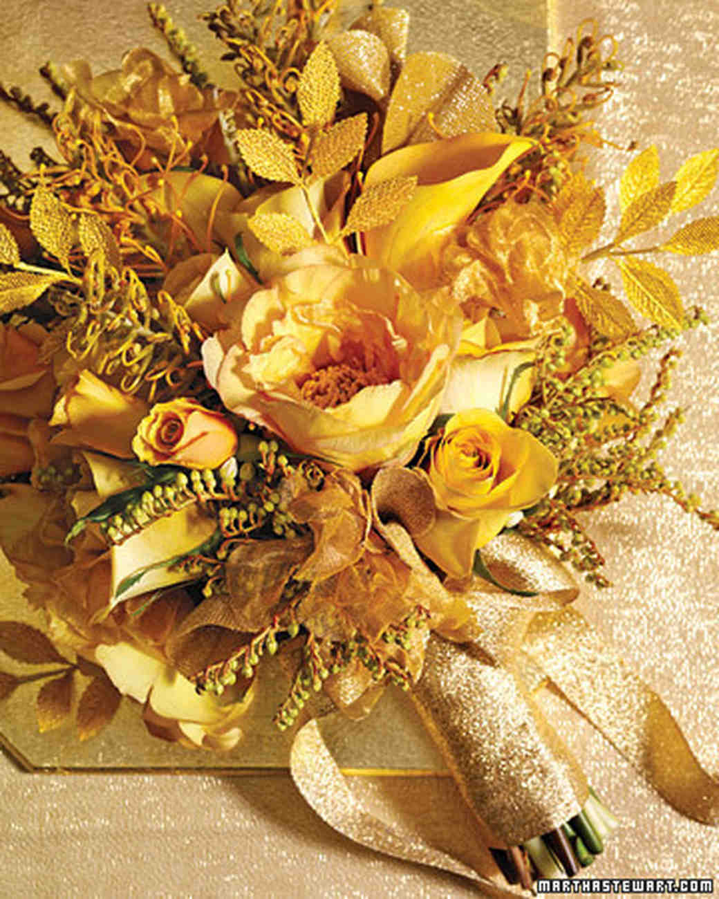 Yellow wedding bouquets martha stewart weddings mightylinksfo
