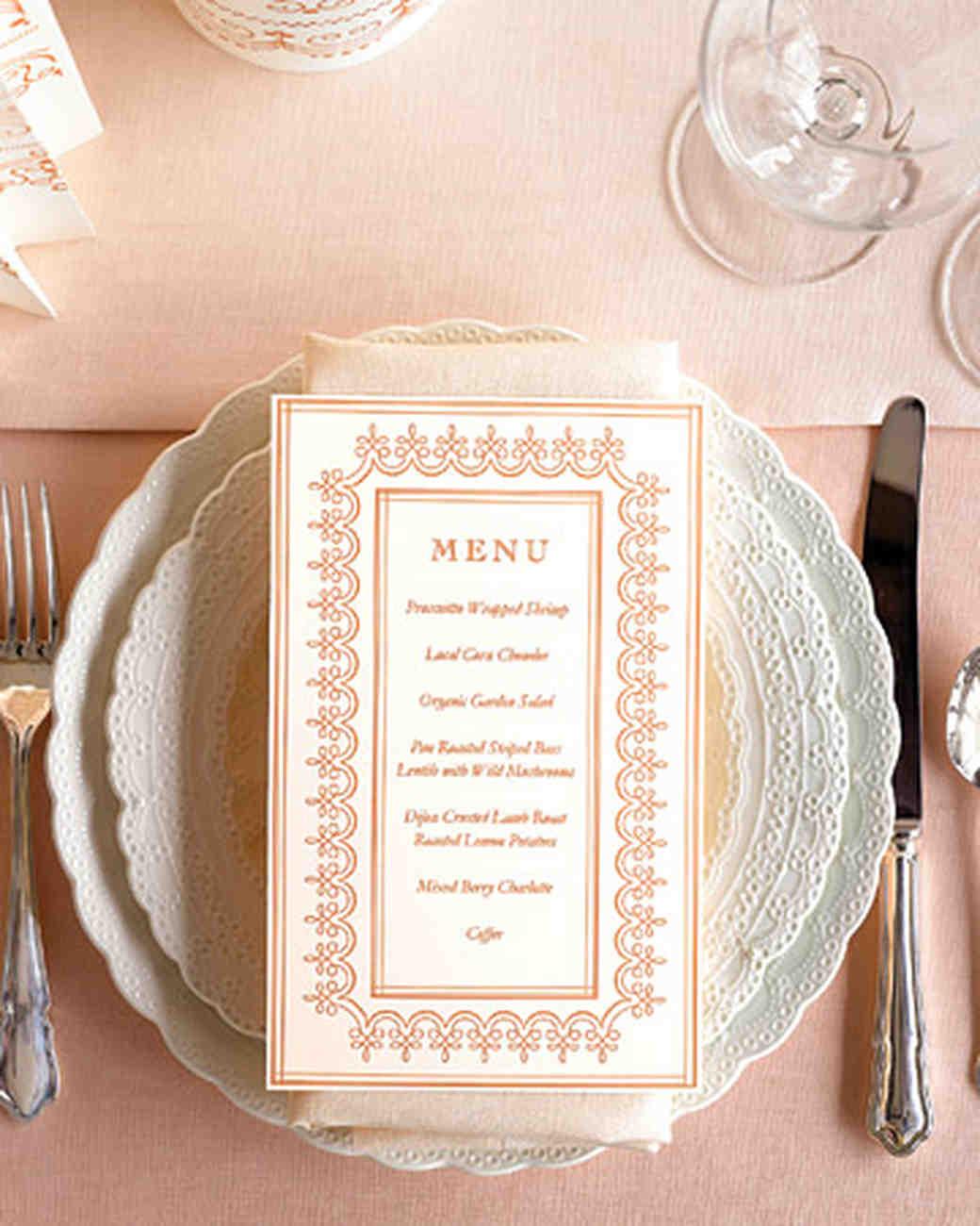 Program, Menu, and Stationery Templates   Martha Stewart Weddings