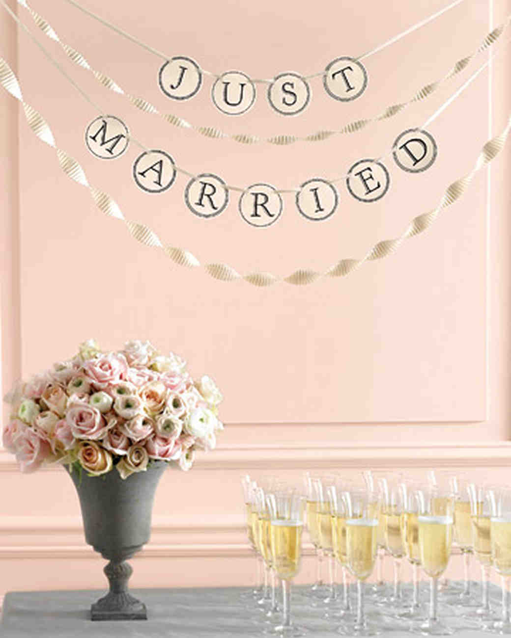 this diy banner will transform any aspect of your wedding ceremony