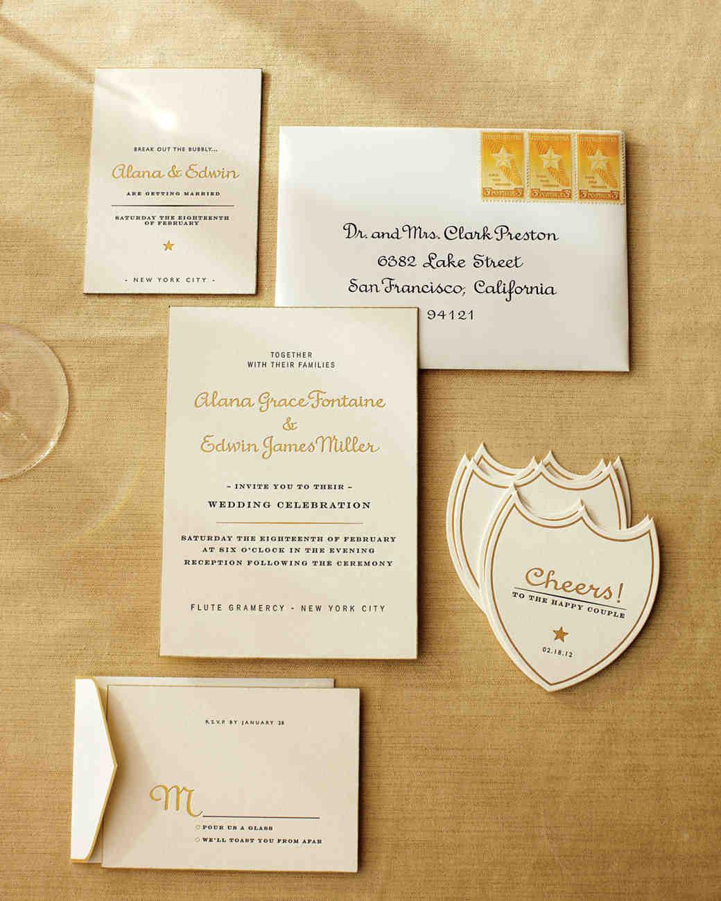 Champagne-Inspired Wedding Ideas | Martha Stewart Weddings