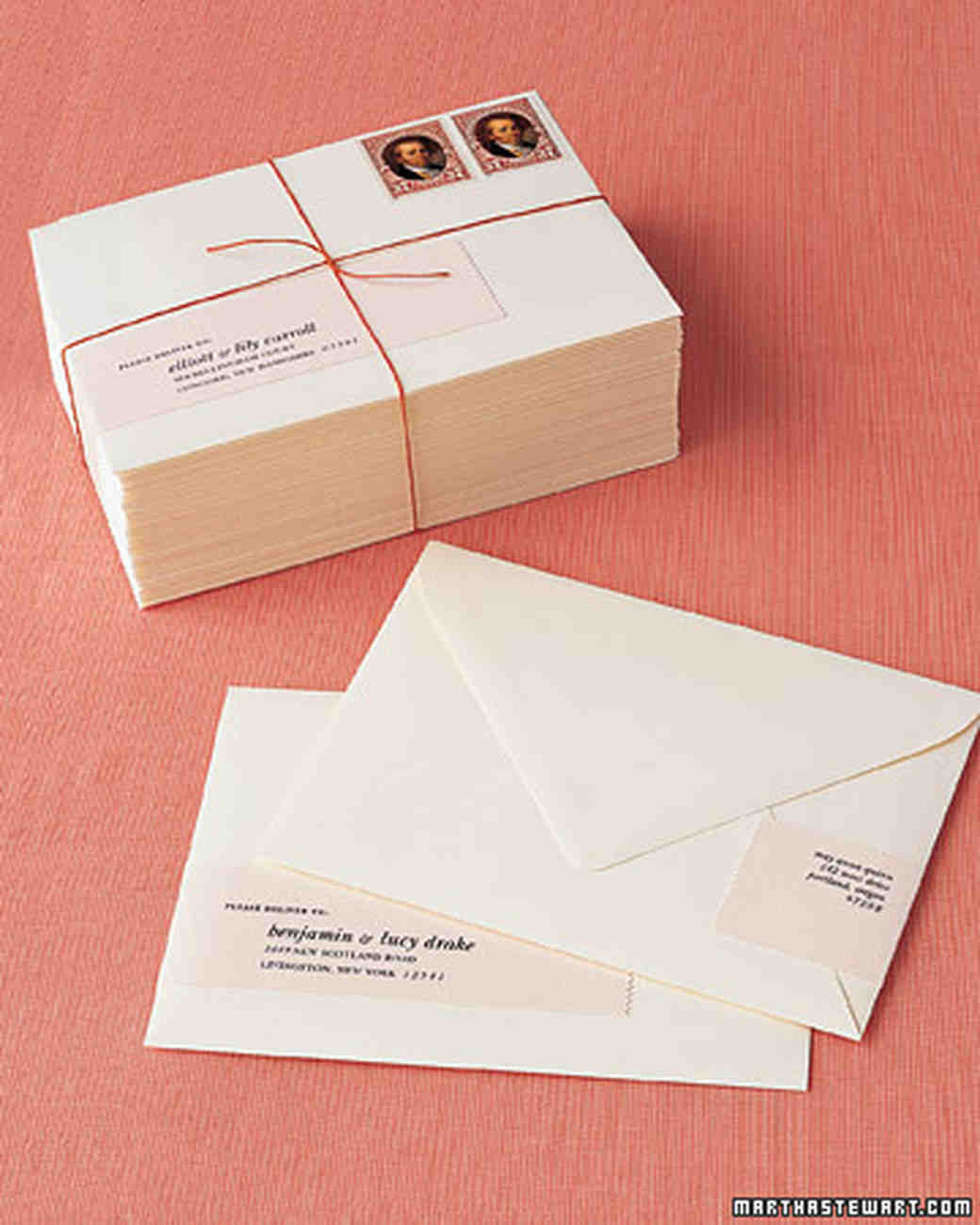 Martha Stewart Weddings  Mailing Label Designs