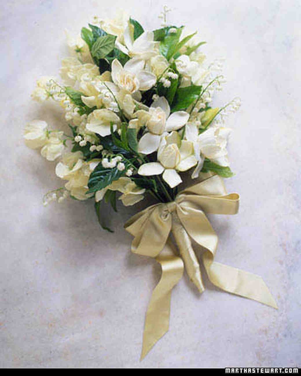 Green wedding bouquets martha stewart weddings creamy gardenia bouquet mightylinksfo