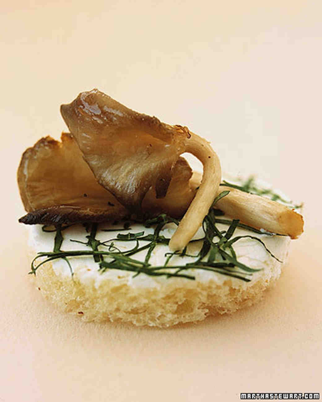 Roasted Mushrooms with Robiola and Truffle Oil