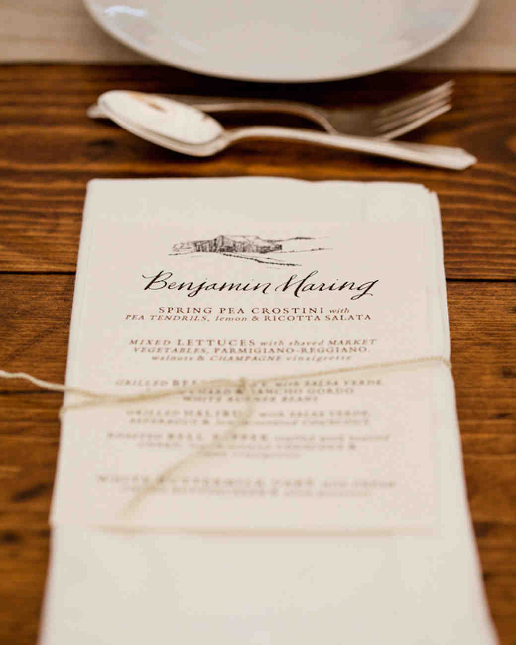 Best Wedding Menu Cards From Real Celebrations | Martha Stewart Weddings