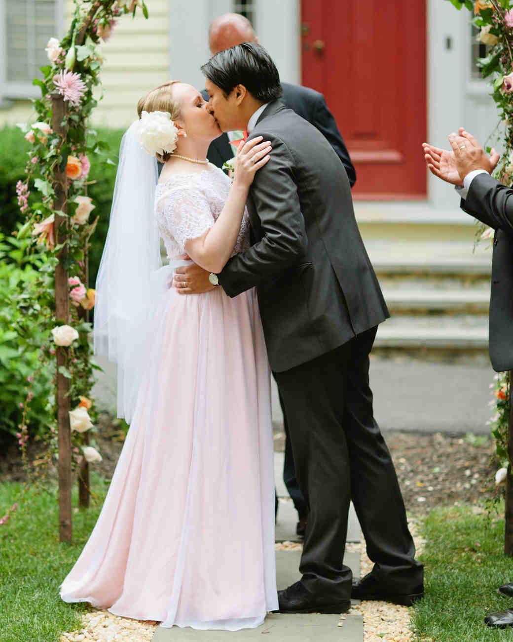 16 Pretty-in-Pink Wedding Dresses | Martha Stewart Weddings