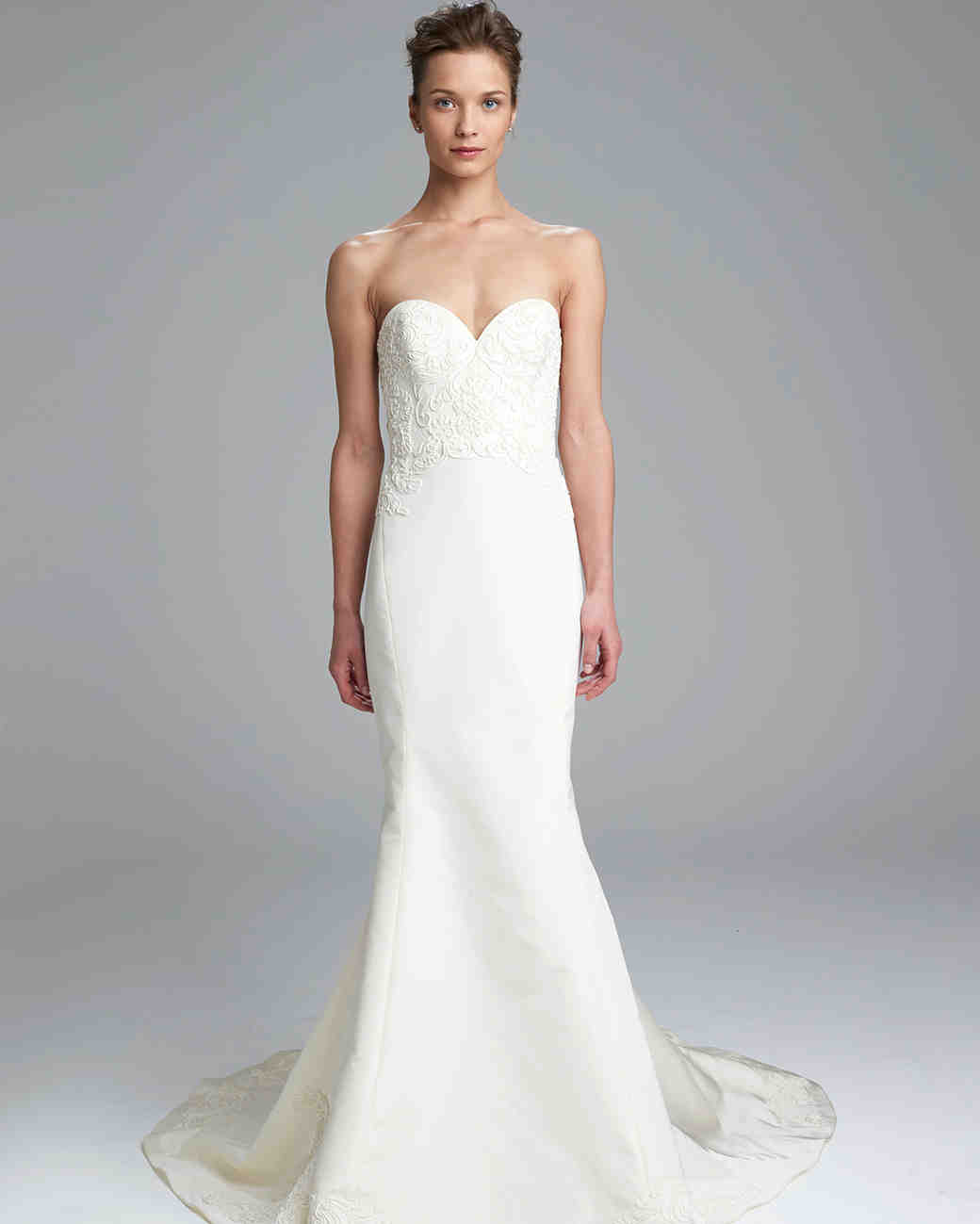 Amsale Simple Sweetheart Neckline Wedding Dress