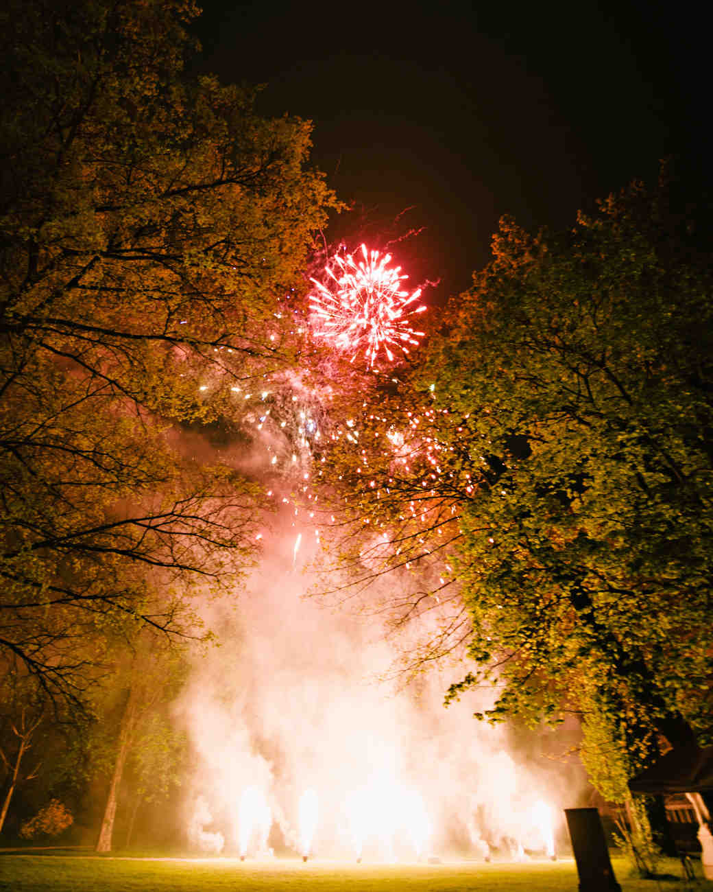 red wedding fireworks