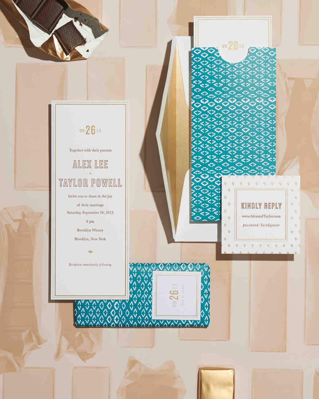 5 Wedding Stationery Suites Inspired by Sweets | Martha Stewart Weddings