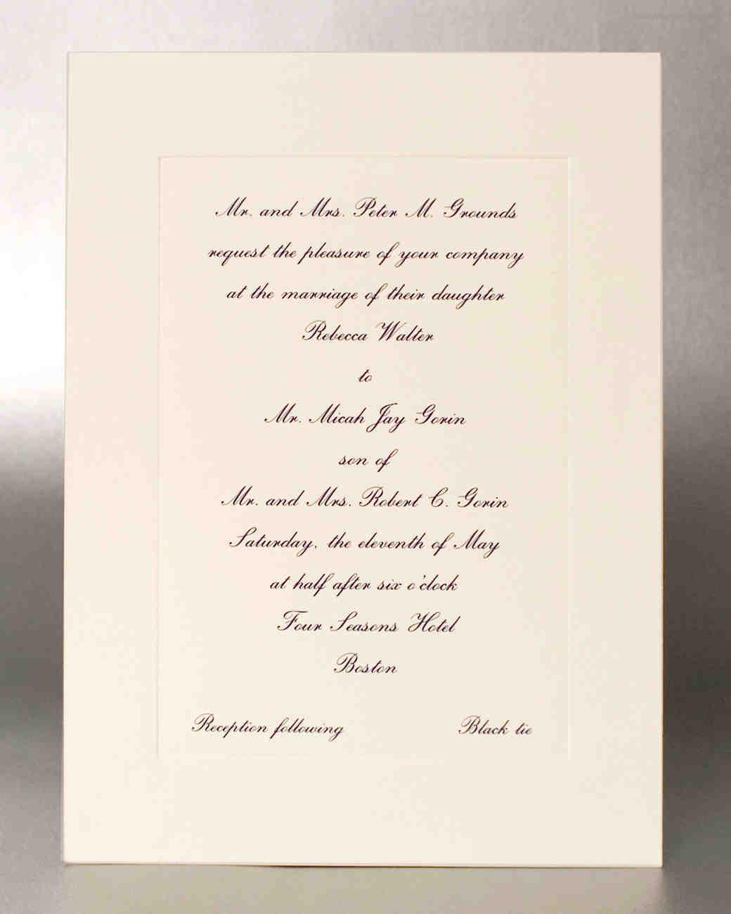 panel wedding invitation