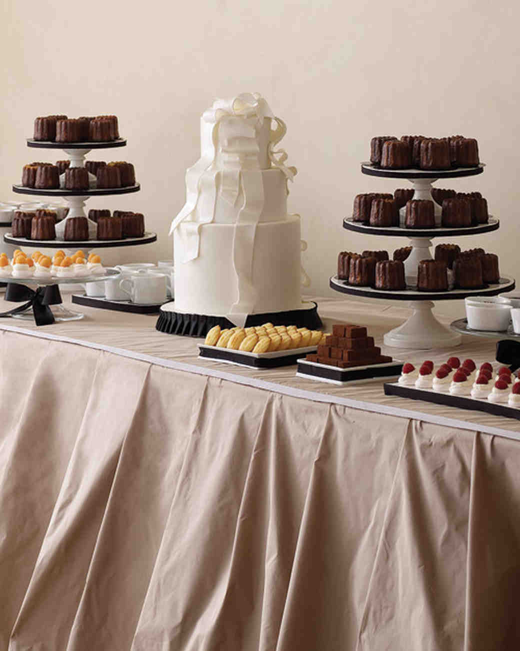 Pictures of wedding cake table decorations