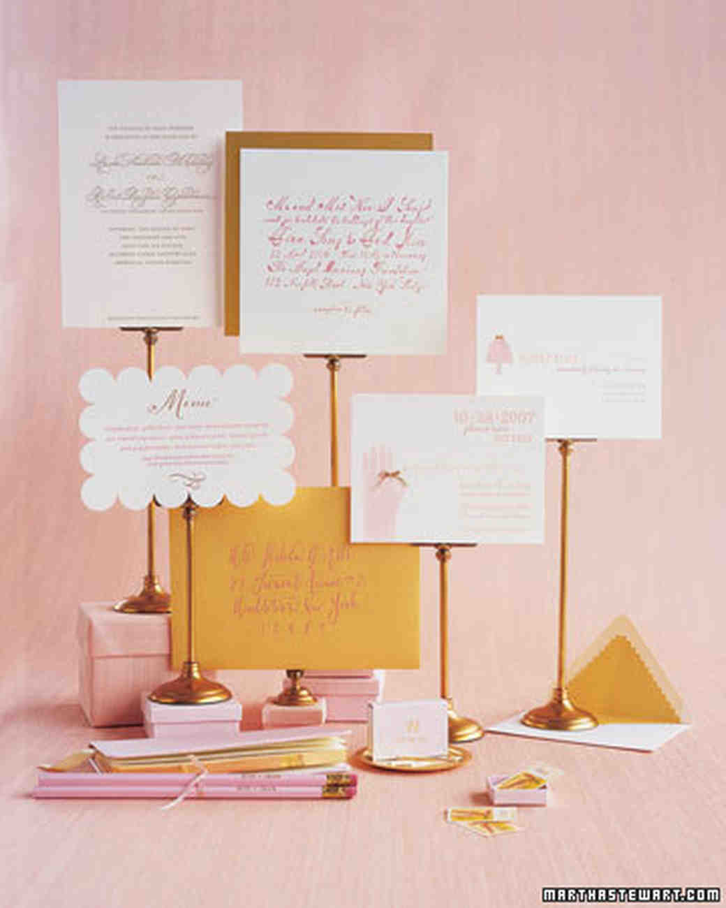 Wedding Colors: Pink and Gold | Martha Stewart Weddings