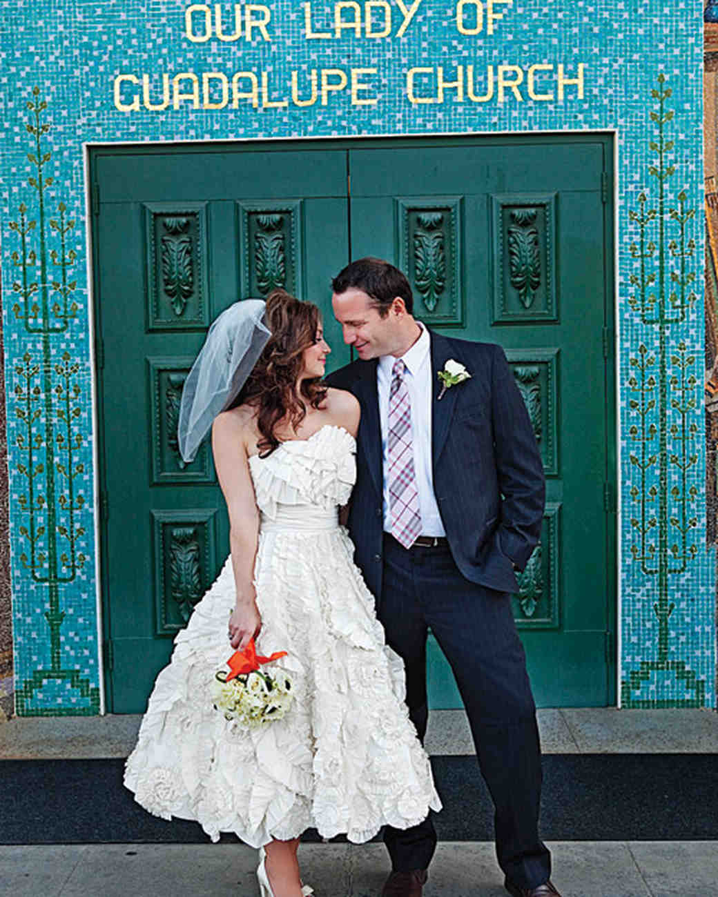 A Modern Peach Colored Wedding In California