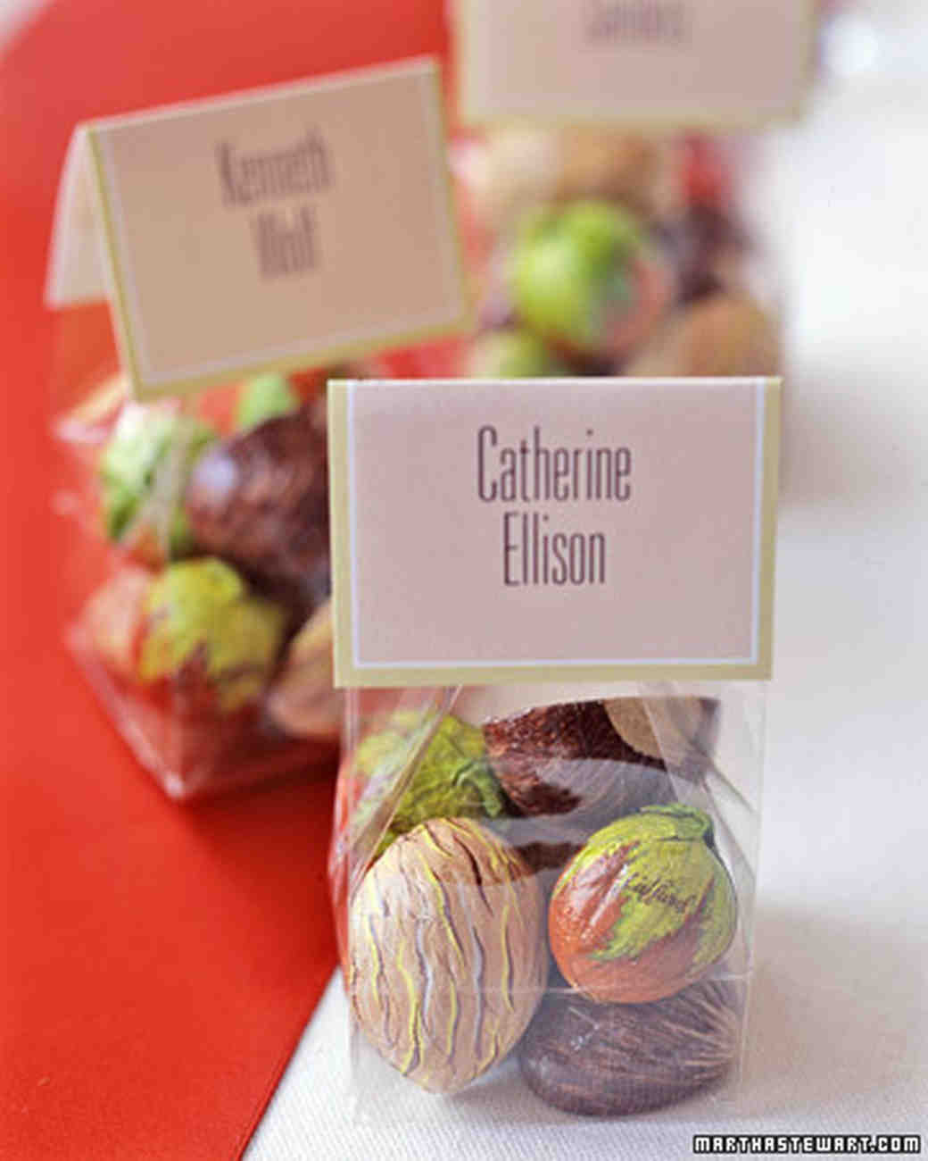 Wedding Favors Food: Food And Drink Seating Cards And Displays