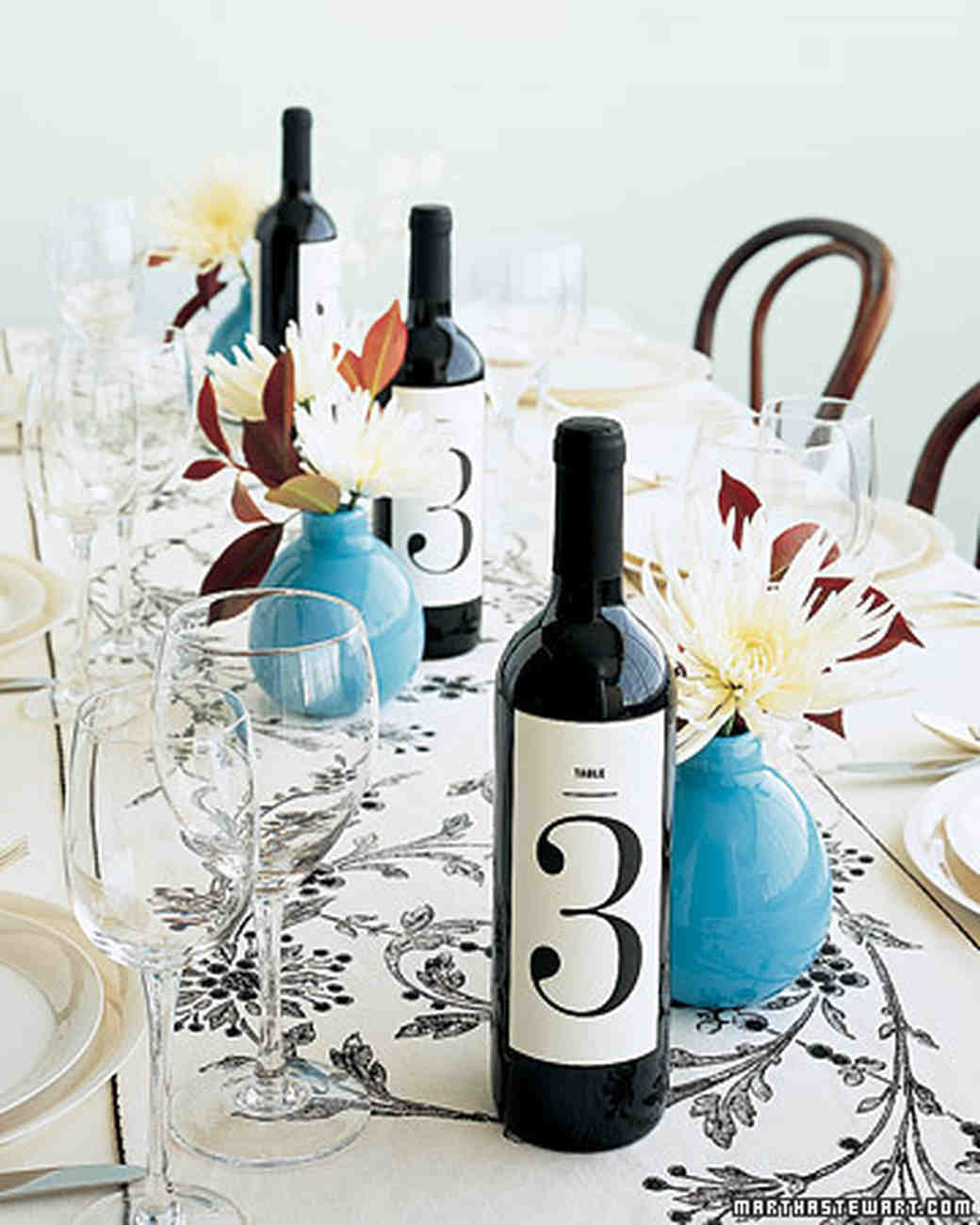 Message On A Bottle Have Wine Bottles Do Double Duty As Table Numbers