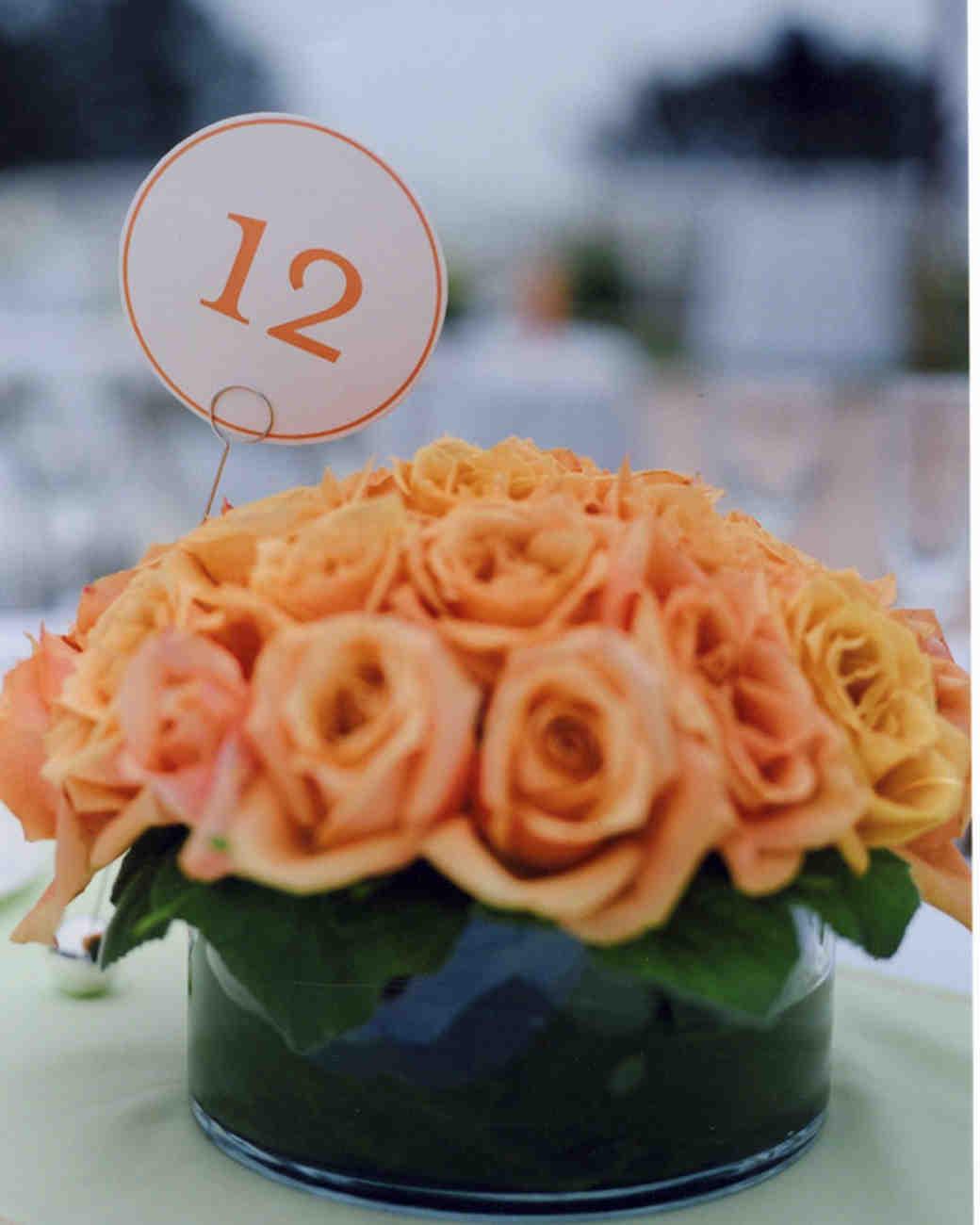 Orange wedding centerpieces martha stewart weddings classic centerpiece junglespirit Choice Image