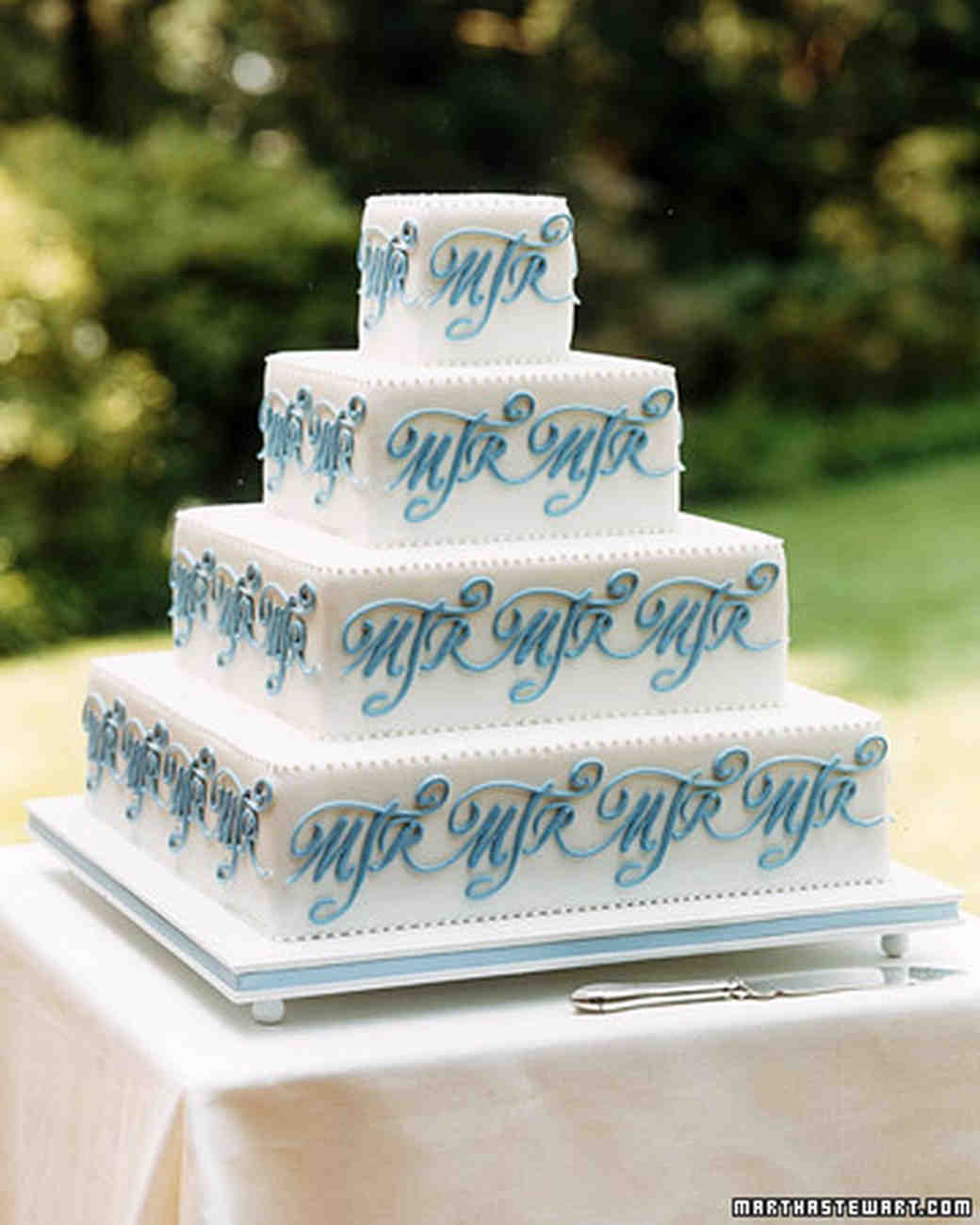 Blue and Purple Wedding Cakes | Martha Stewart Weddings