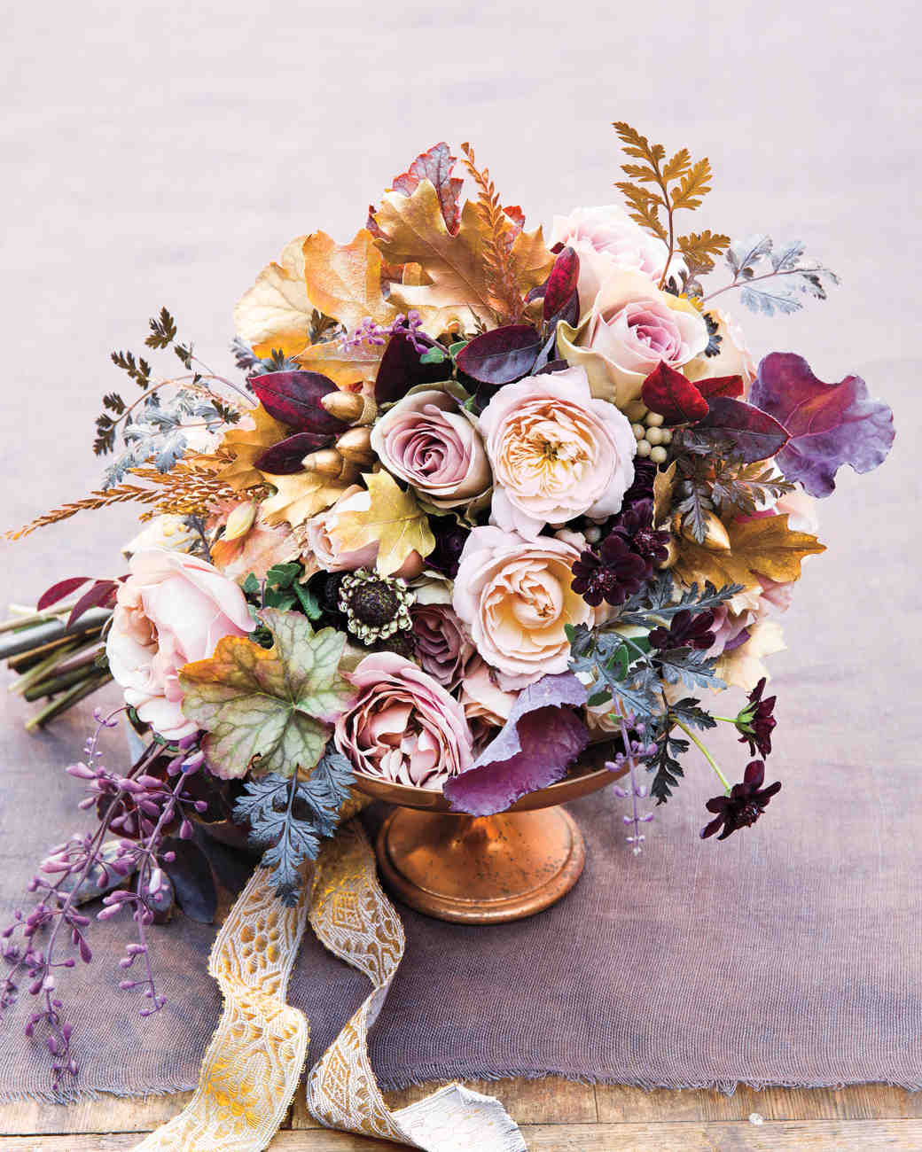 53 gorgeous fall wedding bouquets martha stewart weddings fall wedding bouquet junglespirit Image collections