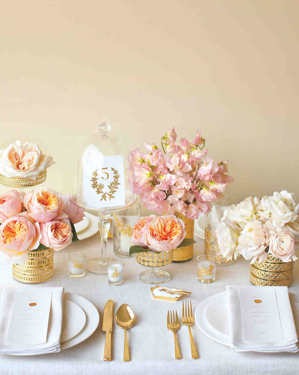 Pink bridal shower ideas and decorations we love martha - Wedding bridal shower ...