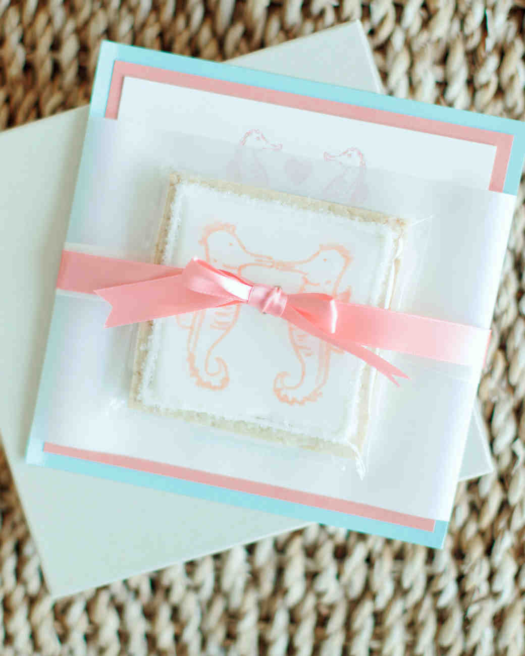 Seahorse Cookie and Stationery