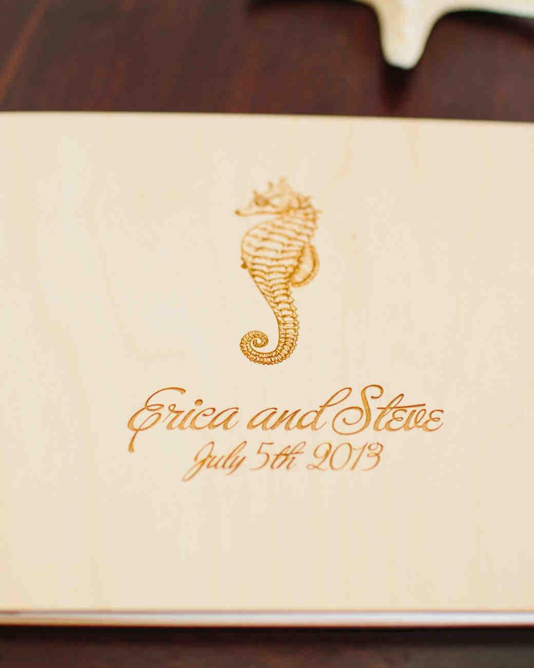 seahorse wedding guestbook