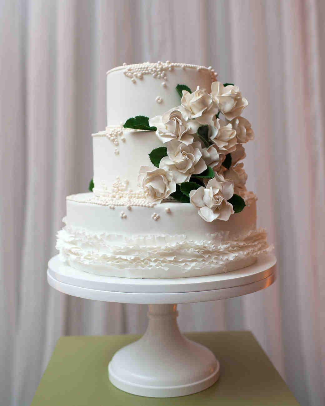 White Gardenia Wedding Cake