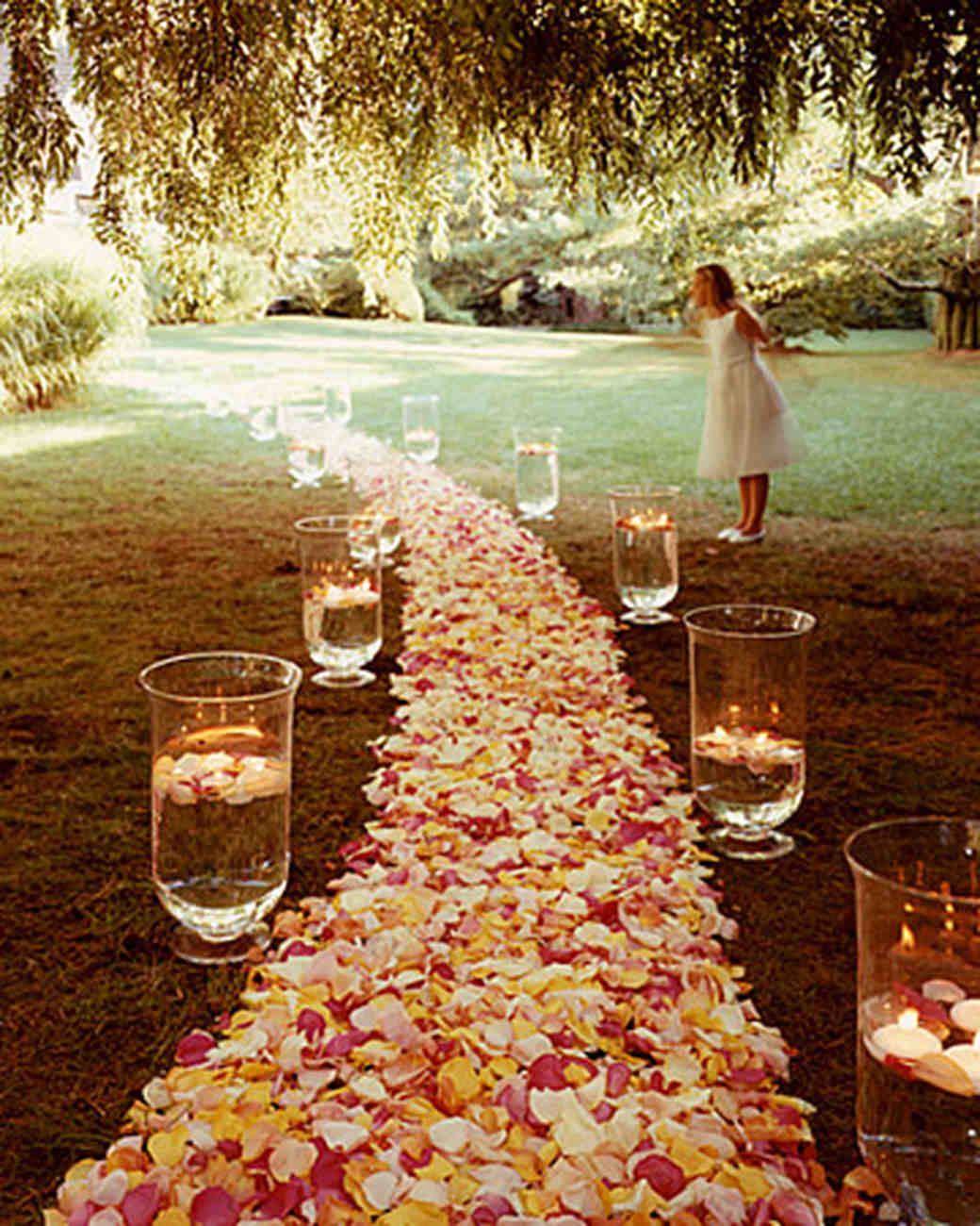Wedding altar and aisle decorations martha stewart weddings junglespirit Image collections