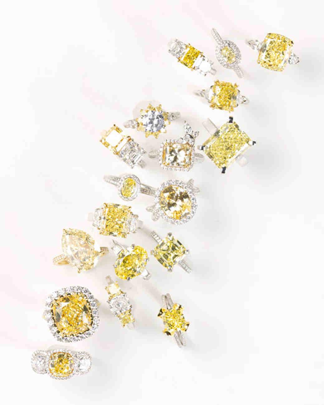 Yellow Diamond Engagement Rings Martha Stewart Weddings
