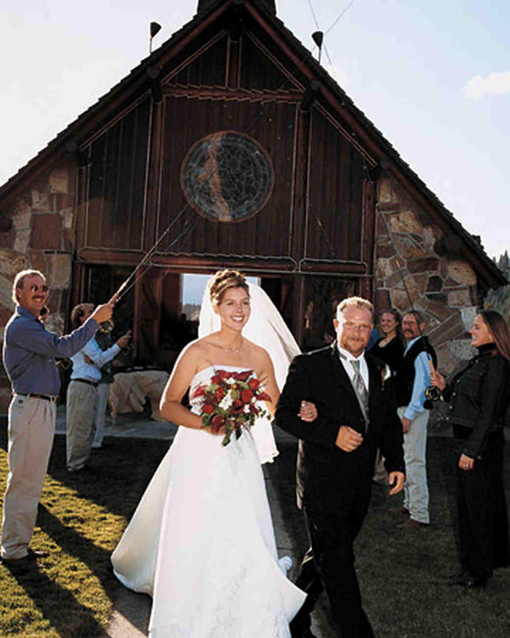 Wedding Dress in Sky Montana