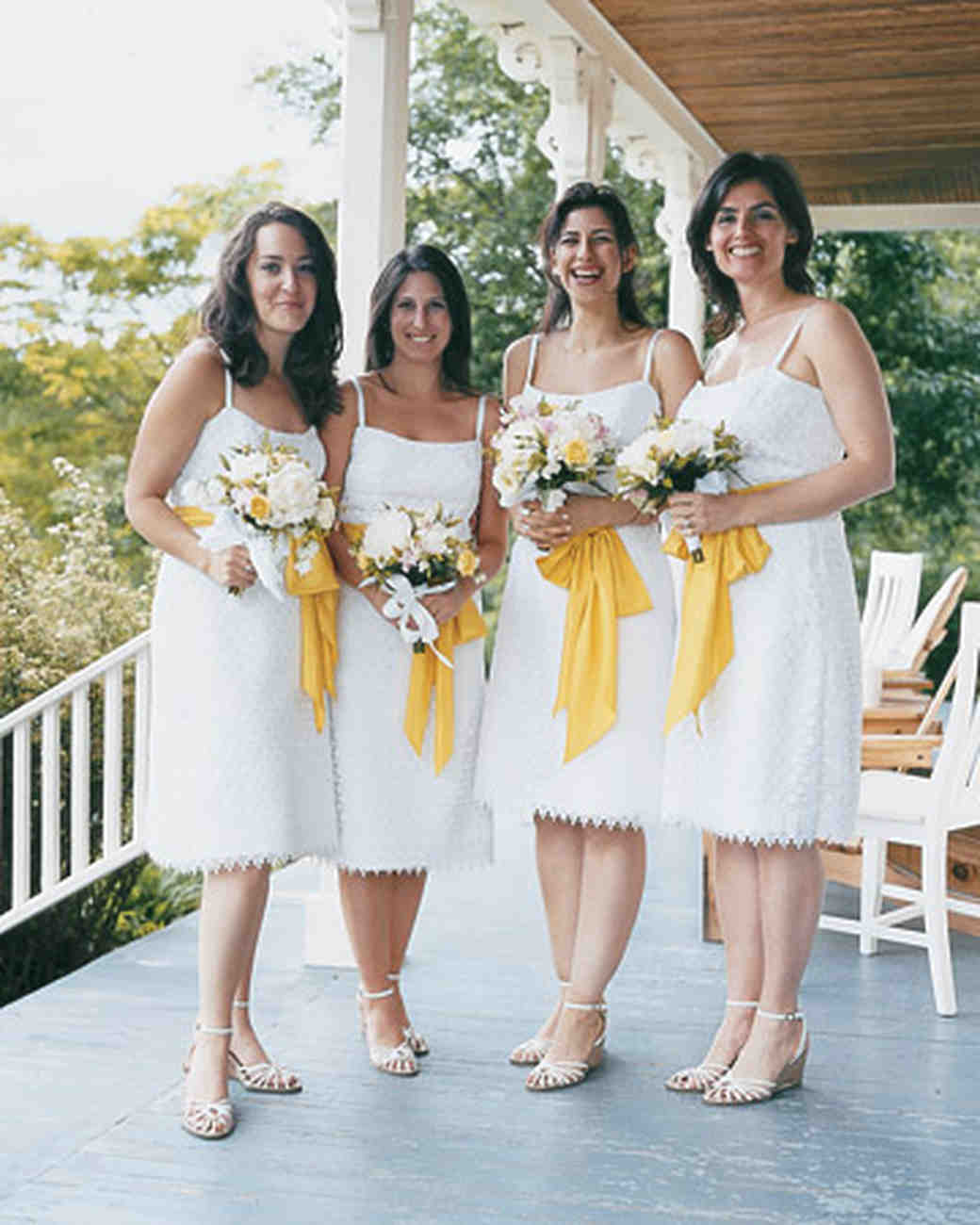 10 bridal parties wearing white at real weddings martha stewart 10 bridal parties wearing white at real weddings martha stewart weddings ombrellifo Gallery