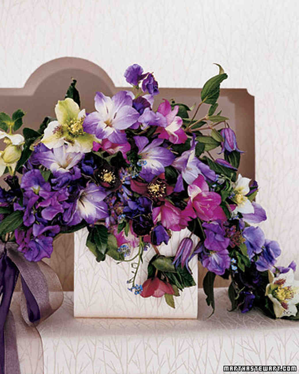 Purple Wedding Bouquets | Martha Stewart Weddings