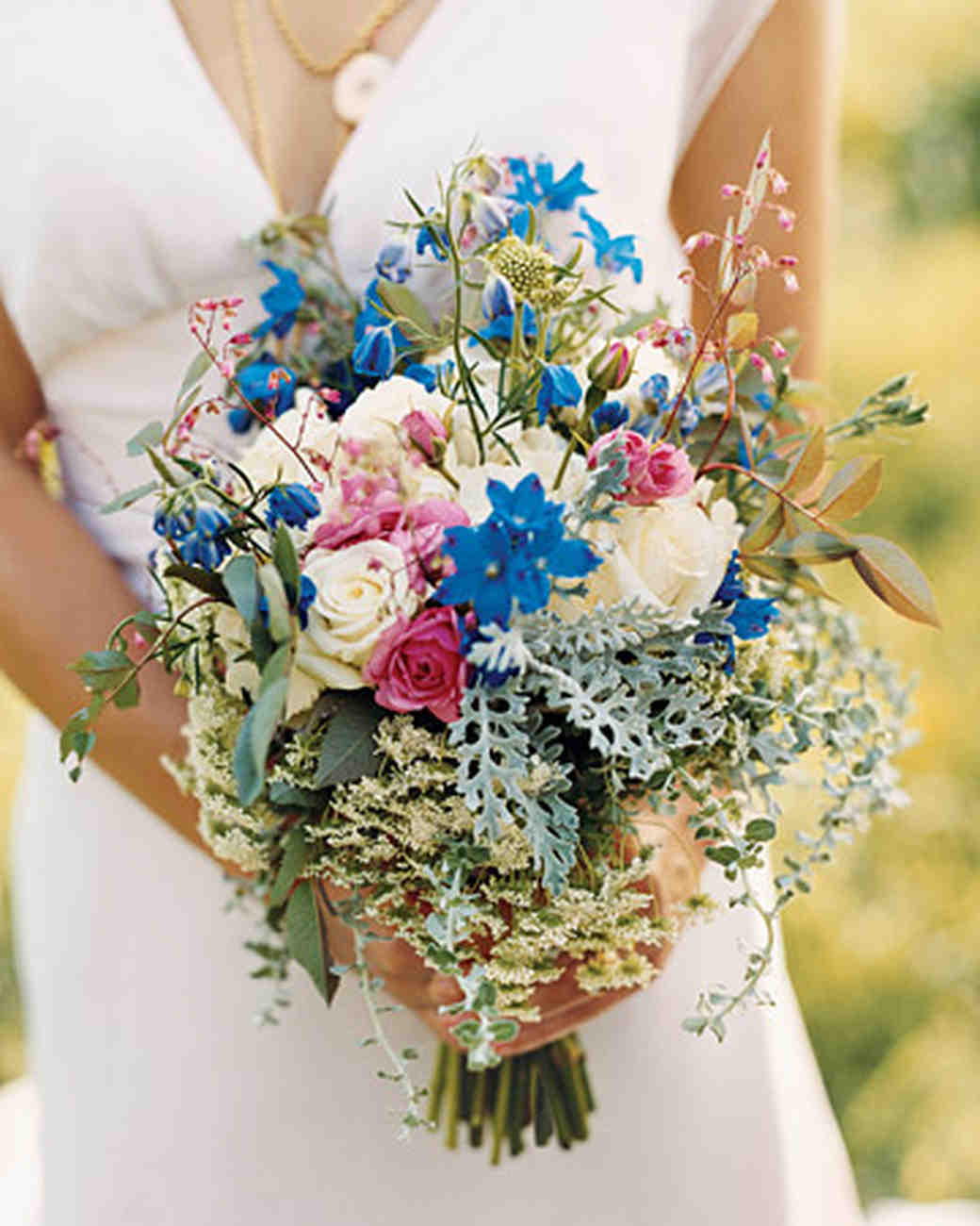 Blue wedding bouquets martha stewart weddings junglespirit