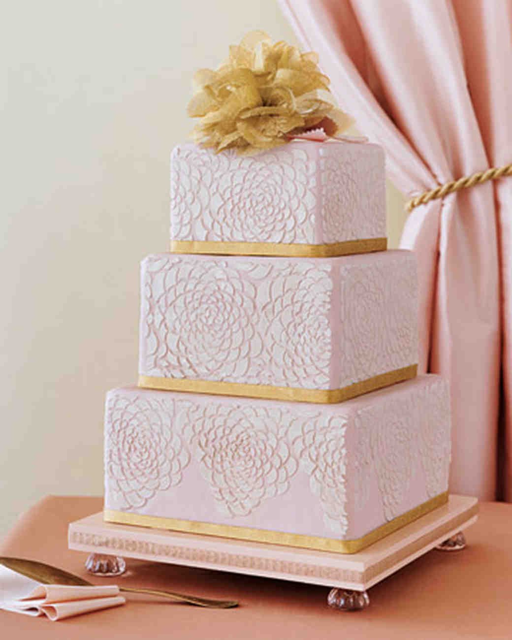 Wedding Colors Pink and Gold Martha Stewart Weddings