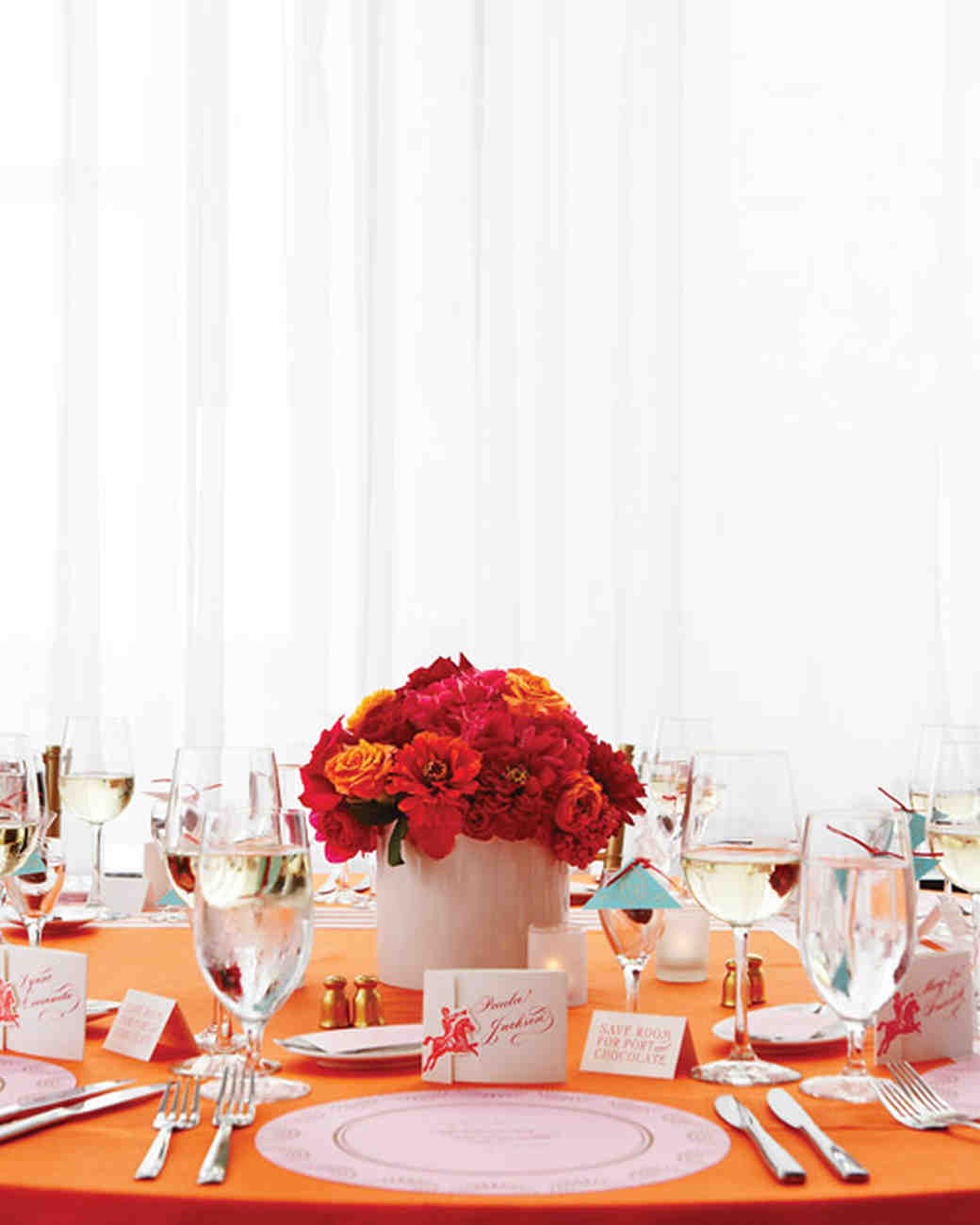 Modern wedding centerpieces martha stewart weddings floridaeventfo Choice Image