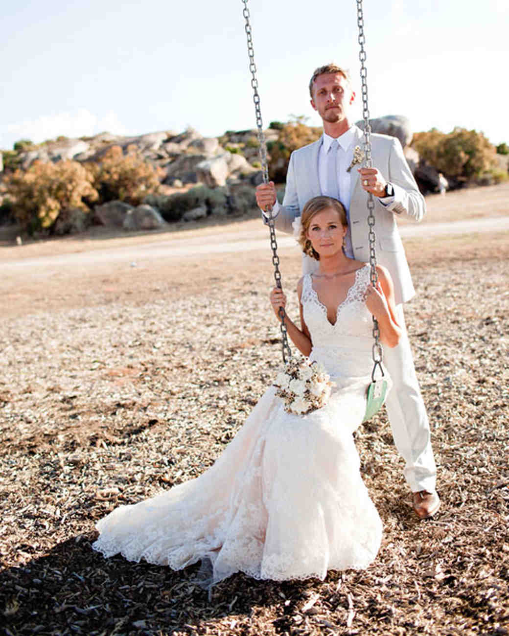 A Rustic Neutral-Palette Outdoor Destination Wedding in California ...