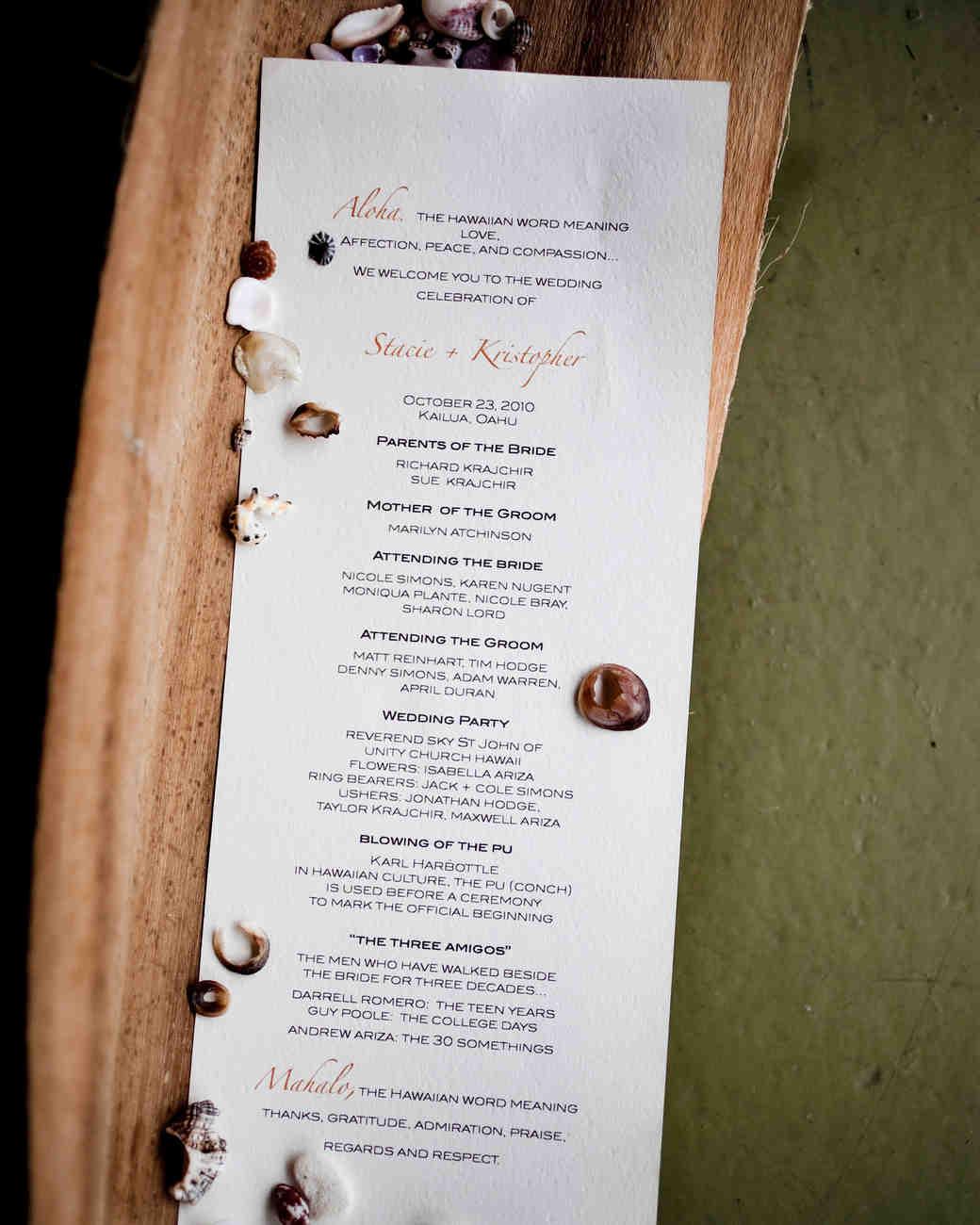 Classic Wedding Ceremony Programs Martha Stewart Weddings