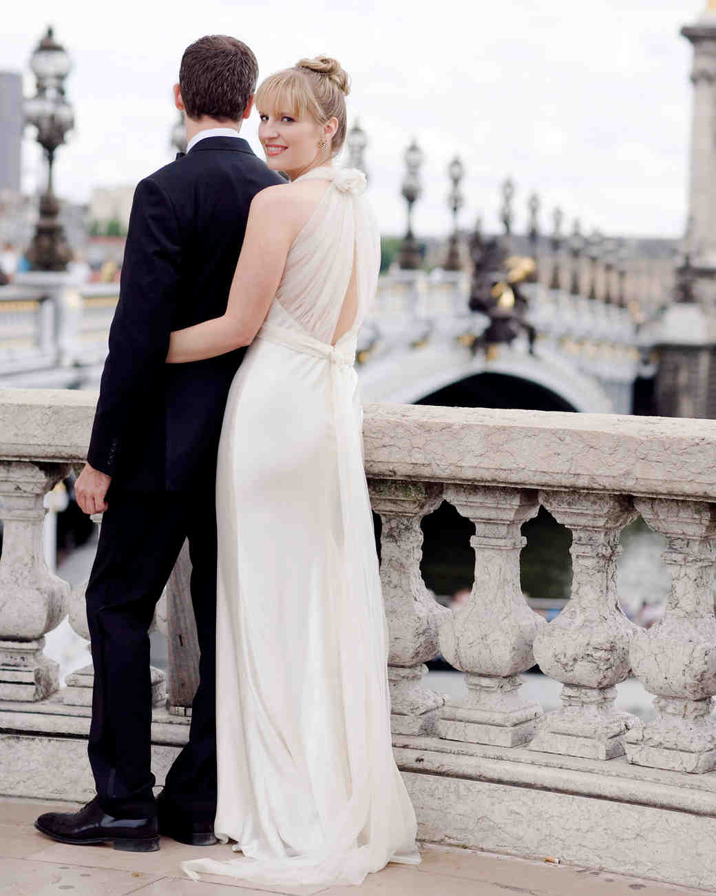 A Formal Black-and-White Destination Wedding in France | Martha ...
