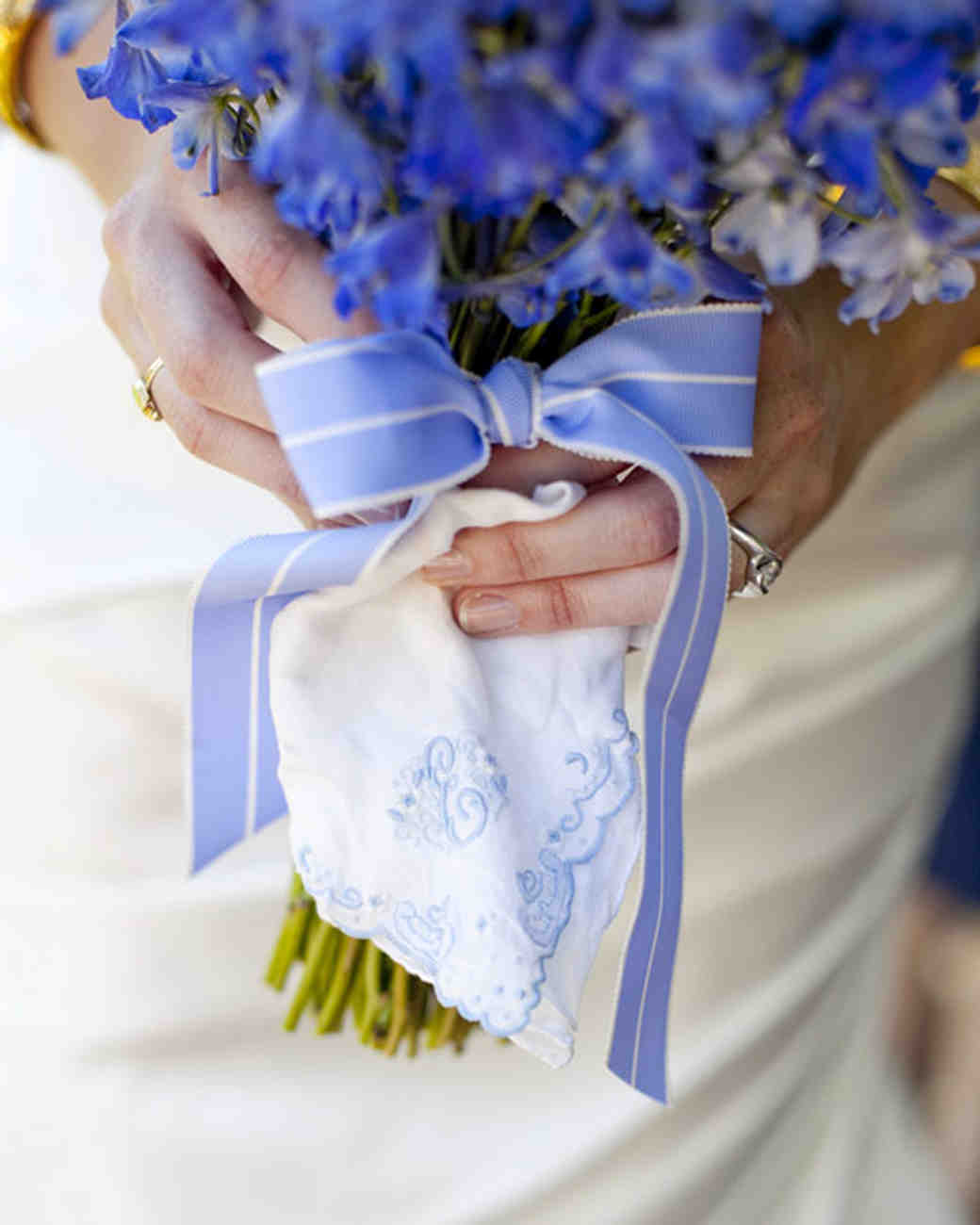 Blue wedding bouquets martha stewart weddings junglespirit Images
