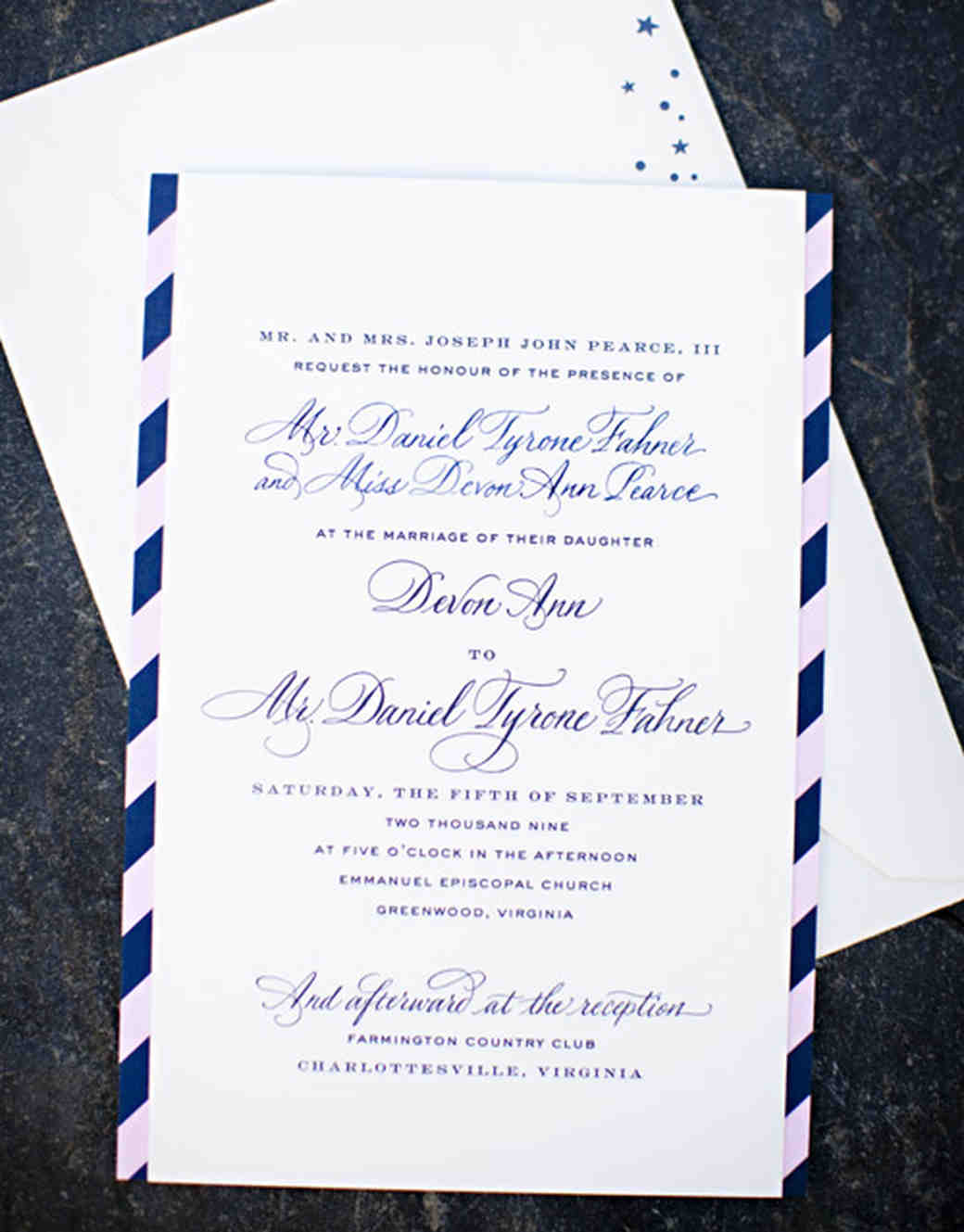 letterpresses wedding invitation