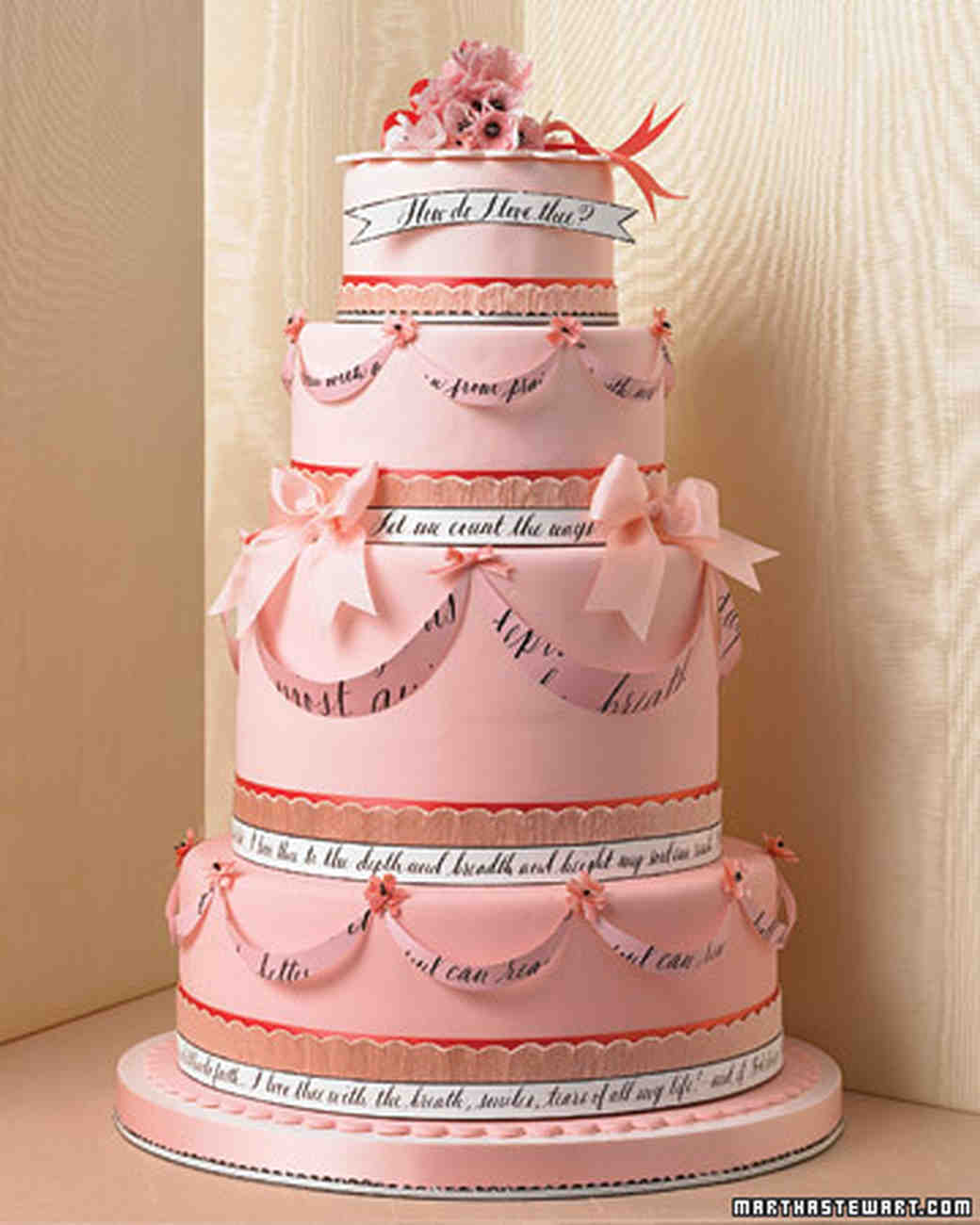 Pretty In Pink Wedding Cakes And Desserts Martha Stewart Weddings